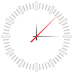 Illustration of a clock face isolated on white background