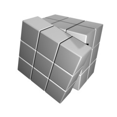Smoothed Glossy Segmented 3D Cube