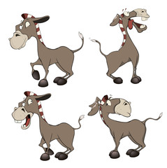 A set of burros cartoon