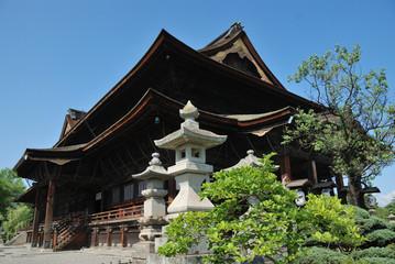 Main hall of Zenko-ji temple in Nagano, Japan
