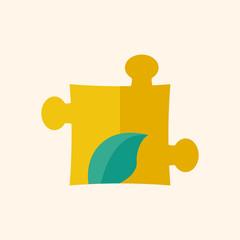 Eco Puzzle Flat Icon