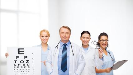 smiling eye doctors and nurses