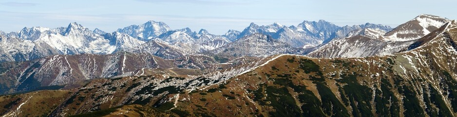 panoramic view of Rohace, West Tatra mountains