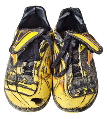 Old soccer boots