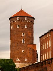 Sandomierska Tower on Wawel Castle in Krakow