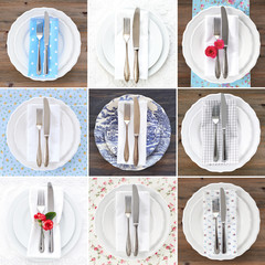Collection of table settings