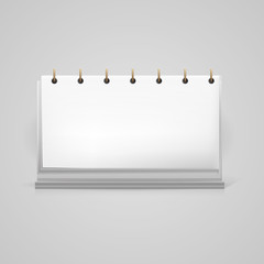 Vector illustration of blank desk calendar mock-up