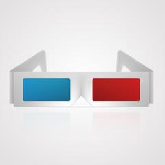Vector illustration of 3d cinema glasses