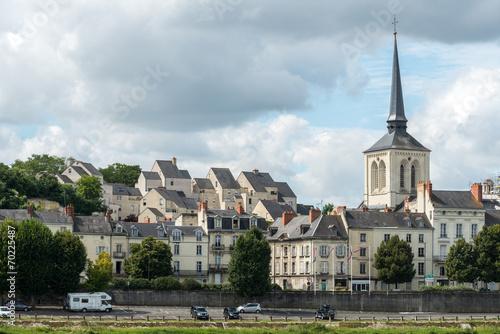 canvas print picture Church of Saint Pierre in Saumur, Maine-et-Loire department (Fra