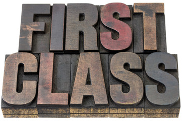 first class in wood type