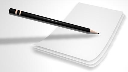 papier et un crayon