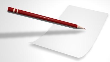 papier et un stylo