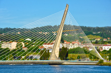Pontevedra, Galicia, Puente de los Tirantes, ingeniería