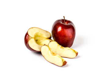 Fresh Sliced Red Delicious Apples