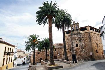 Plaza y convento de Santa Clara, Cáceres, España