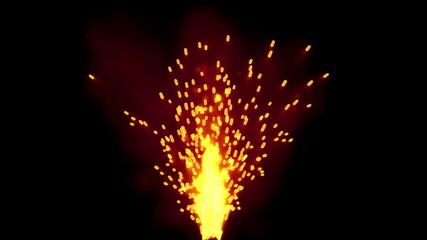 Fire Sparkles 3D CGI animation with Matte