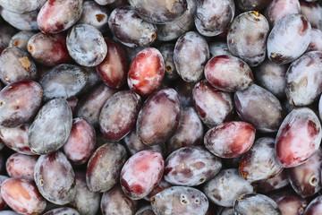 Zwetschke plums background.