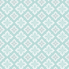 Oriental vector pattern with damask