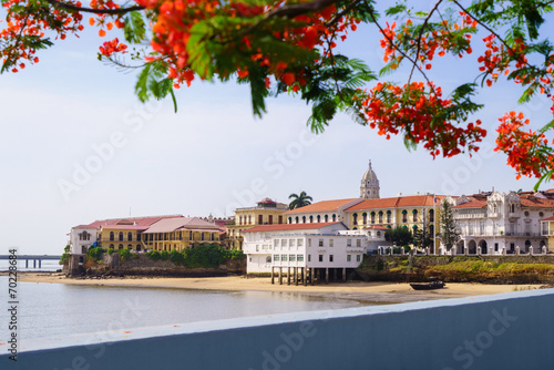 canvas print picture Panama City view old casco viejo antiguo