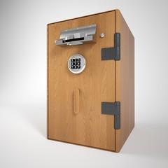 cash machine wooden