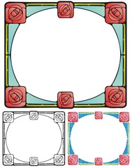 Arts and Crafts style border with roses