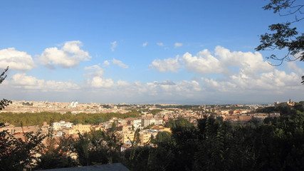 City overview Time Lapse from Janiculm Hill in Rome, Italy