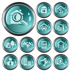 Real estate button set