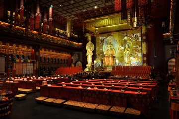 Buddha Tooth Relic Temple Interior, Singapore