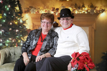 Relaxed Senior Couple at Christmastime
