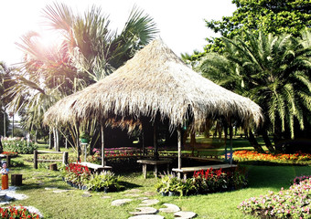 hut in the gardens