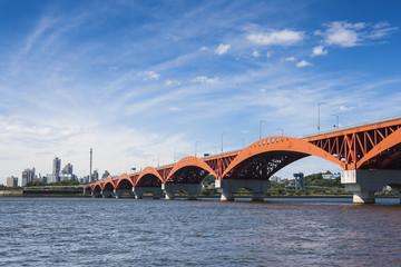 Bridge on the han River in the seoul