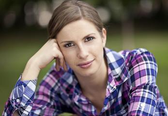 Closeup Of A Adult Woman