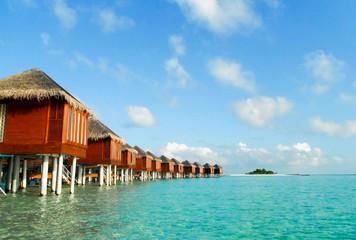 The Water villa Lagoon Maldives resort Landscape