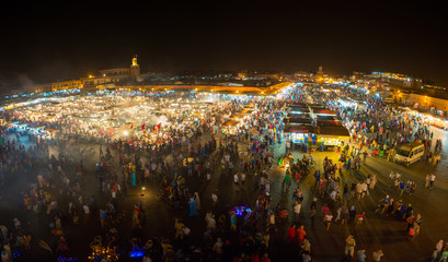 Jemaa el-Fnaa, square and market place in Marrakesh