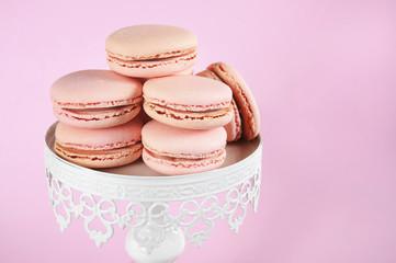 Pink Macarons cookie petit fours