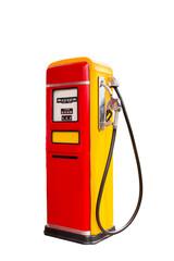 retro fuel dispenser isolated on white