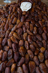 Dried date fruits background