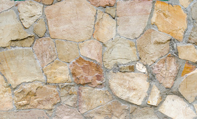 wall of stones as a texture and background