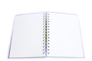 Clipping path this flie diary book on table office