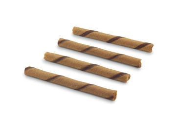 Striped wafer rolls