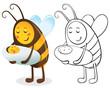 Obrazy na płótnie, fototapety, zdjęcia, fotoobrazy drukowane : Bee mother and child