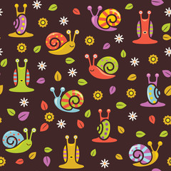 Seamless snail background