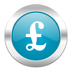 pound internet blue icon