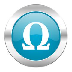 omega internet blue icon
