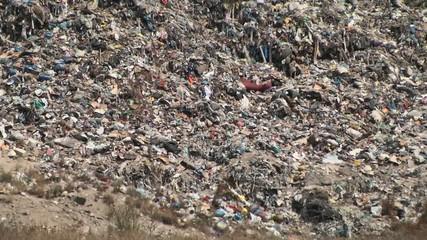 mountain of garbage waste plastic bottles