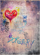Retro' and romantic graffiti background