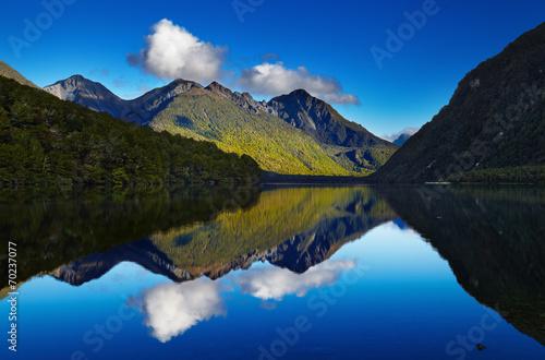 canvas print picture Lake Gunn, New Zealand