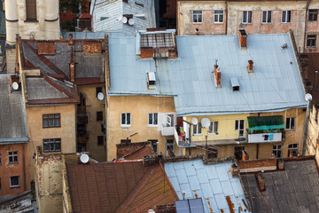 A roofs of Lviv