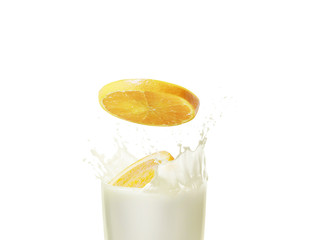 Milk and orange