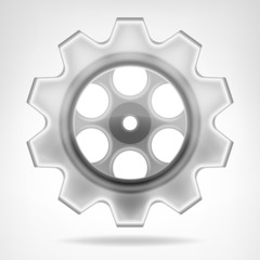 gear wheel 3D object isolated